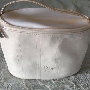 Dior White Cosmetic Toilette Travel Bag